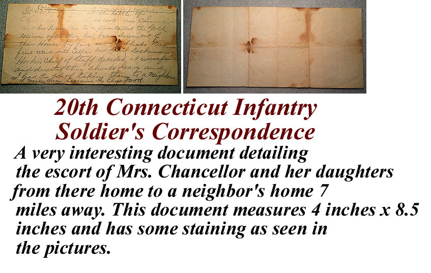 20th connecticut infantry soldier 39 s correspondence